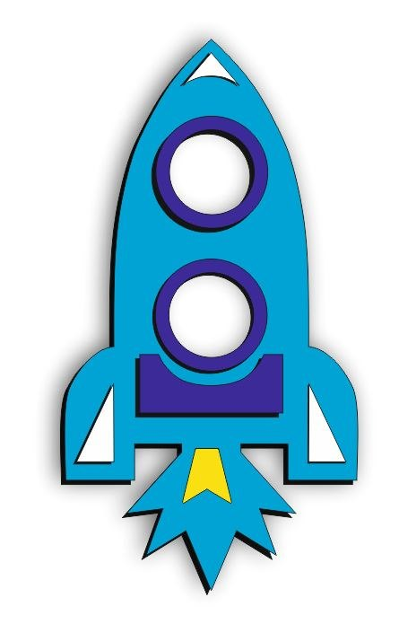 Rocket Photo Frame For Laser Cutting Free CDR Vectors Art