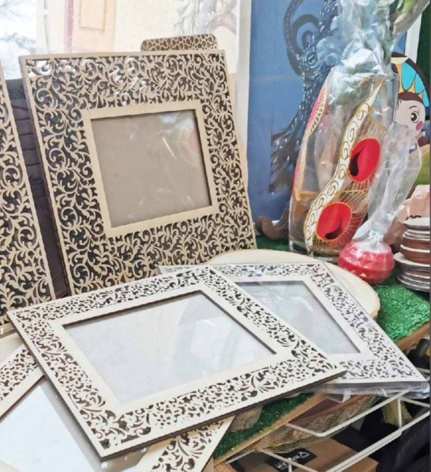 Wooden Decorative Frames For Laser Cutting Free CDR Vectors Art