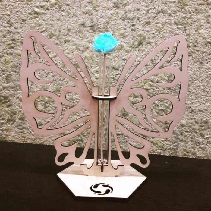 Laser Cut Butterfly Glass Planter Flower Pot Free CDR Vectors Art