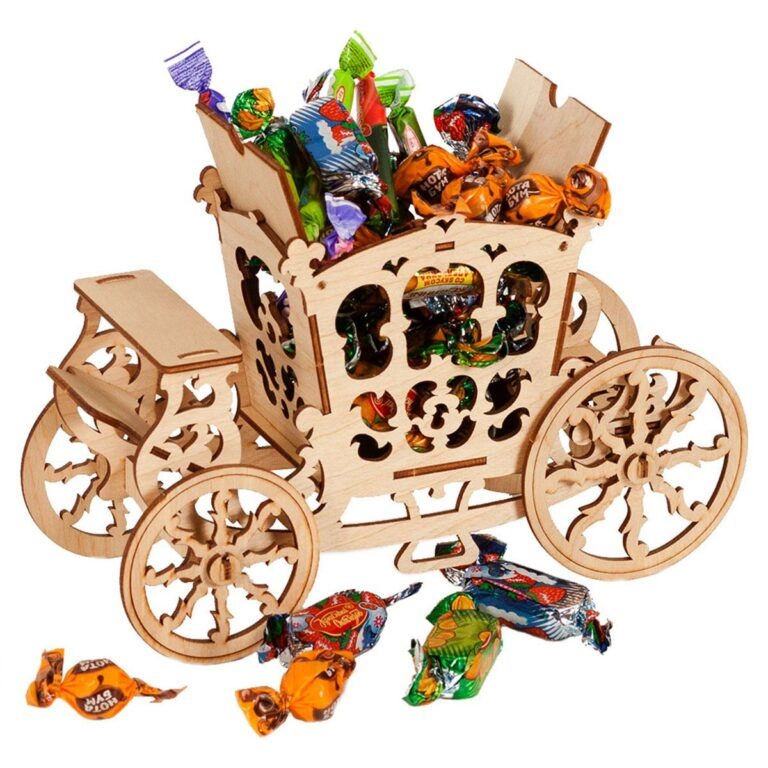 New Years Layouts A Basket For Sweets For Laser Cut Free CDR Vectors Art
