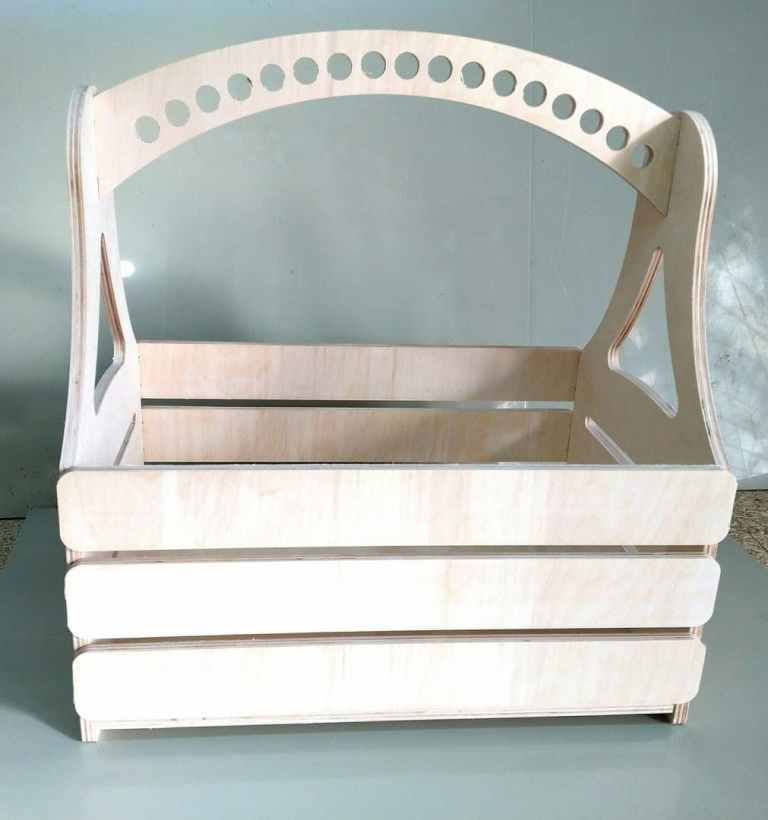 Simple Basket For Laser Cutting Free DXF File