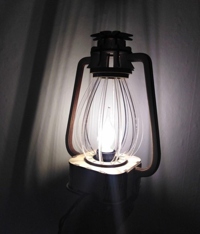 Classic Lantern Nightlight Table Lamp Free For Laser Cut Free CDR Vectors Art
