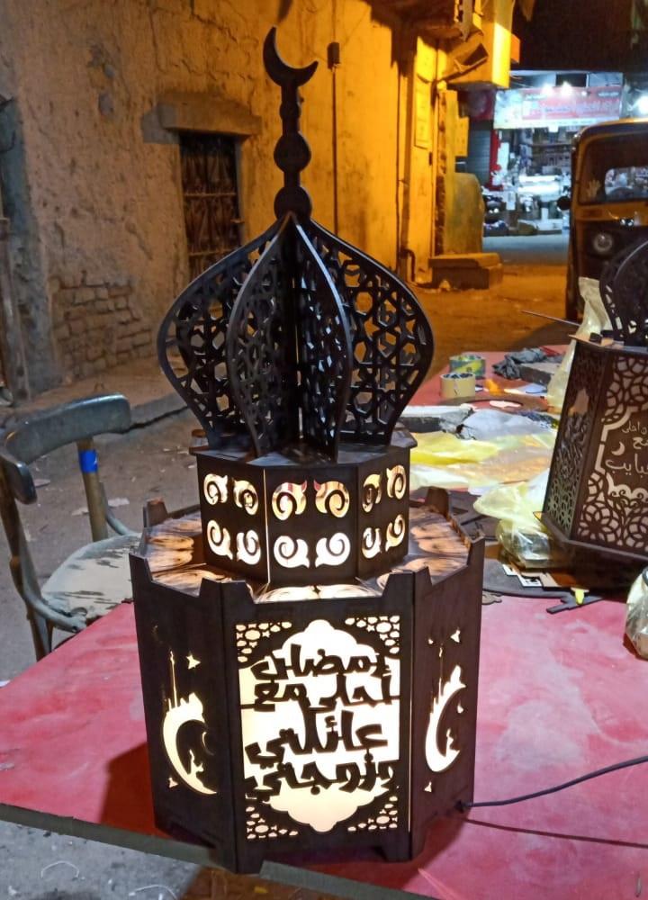 Laser Cut Ramadan Lantern Masjid Free CDR Vectors Art