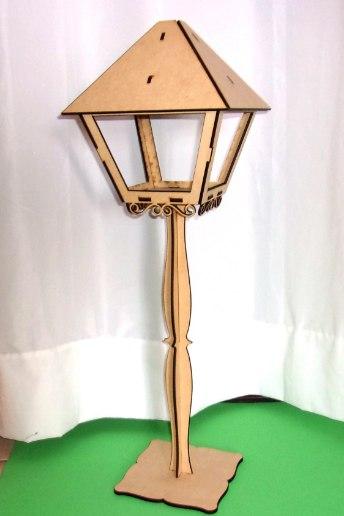 Laser Cut Street Lantern Free CDR Vectors Art