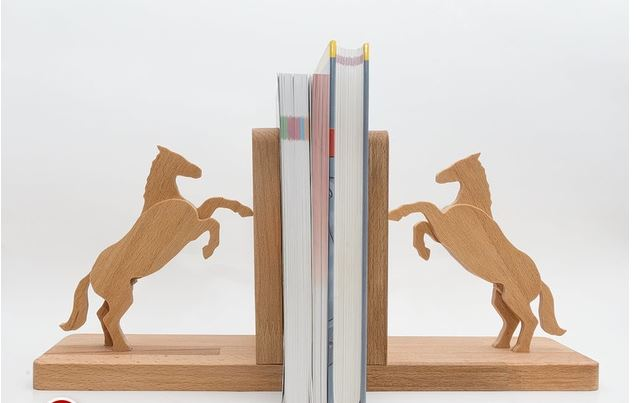 Horse Book Stand A For Laser Cut Free DXF File