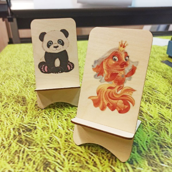 Wooden Phone Stand For Laser Cutting Free DXF File
