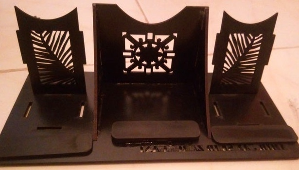 Layout Of Stand The Phone For Laser Cut Free CDR Vectors Art