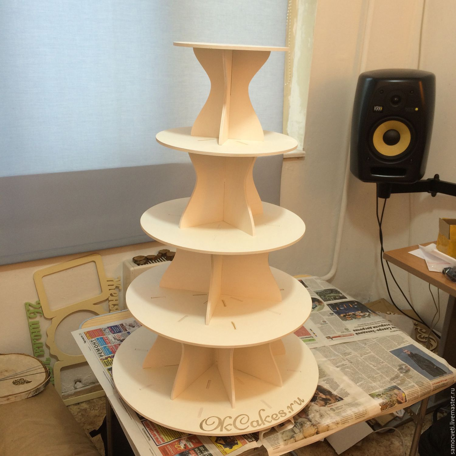 Multi Tier Cake Stand 4mm For Laser Cutting Free CDR Vectors Art
