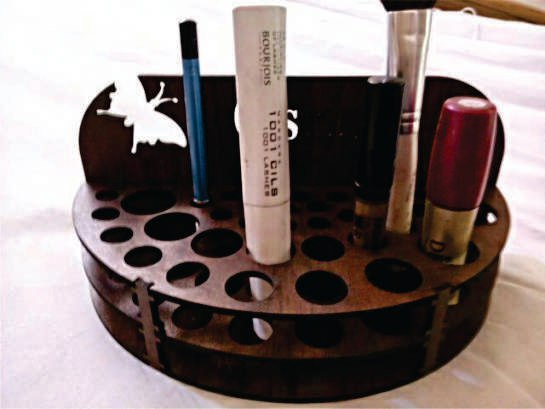 Stand For Cosmetics For Laser Cut Free CDR Vectors Art