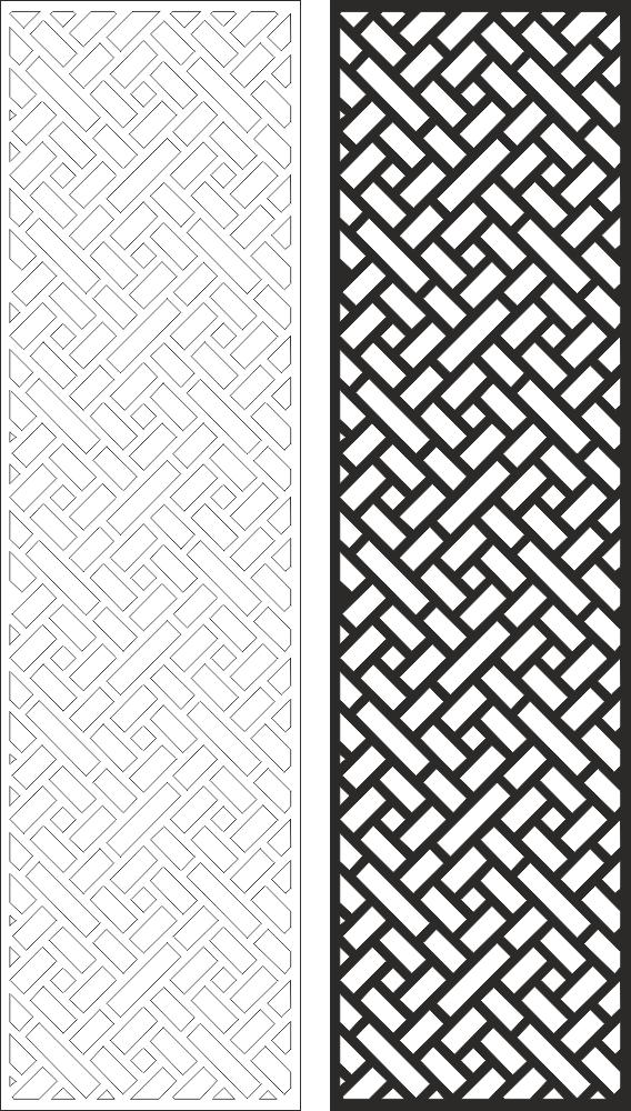 Wall Panel Screen Design Laser Cut Free CDR Vectors Art