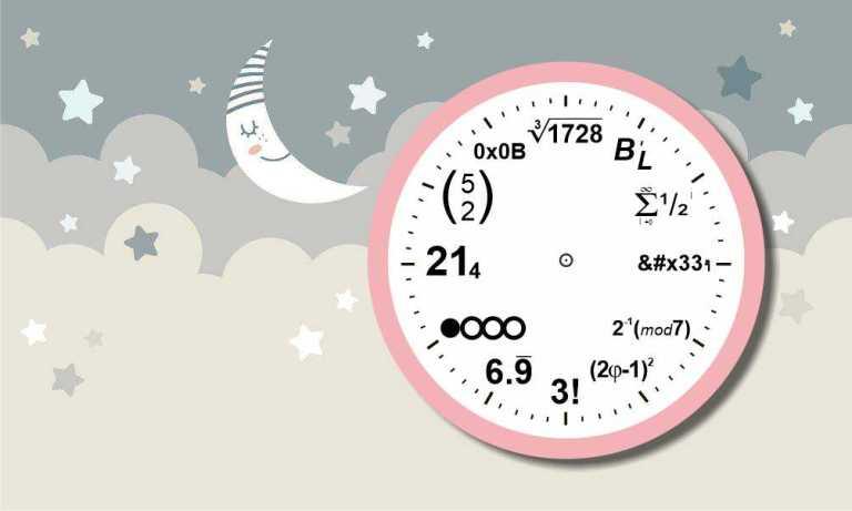 Mathematical Clock Layout For Laser Cut Free CDR Vectors Art