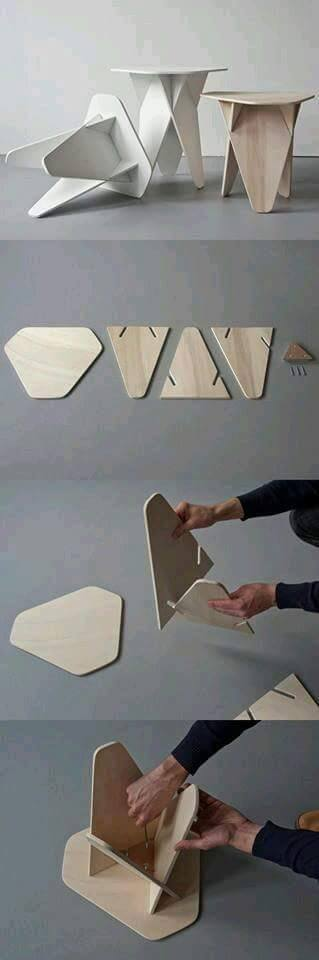 The Innovative Wedge Side Table For Laser Cut Free CDR Vectors Art