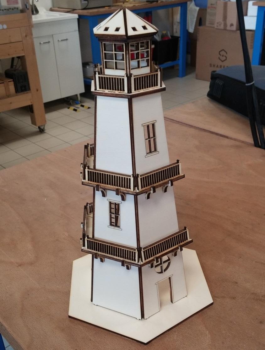 Laser Cut Lighthouse 3d Model Kit Toy 4mm Mdf Free DXF File