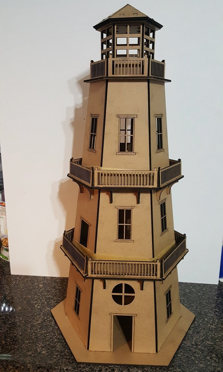 Laser Cut Lighthouse 3d Puzzle Free DXF File