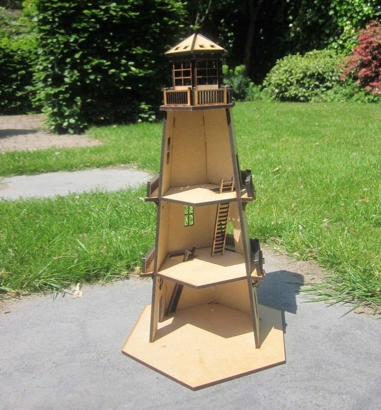 Lighthouse 3d Model Kit Toy 4mm Model Free DXF File