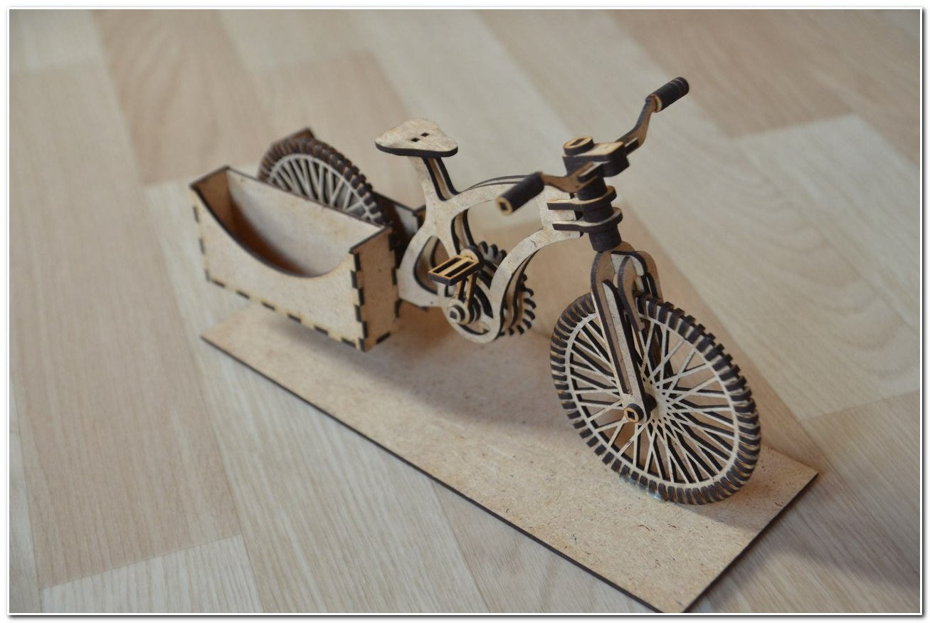 Bike Wooden Organizer A Bike For Laser Cut Free CDR Vectors Art