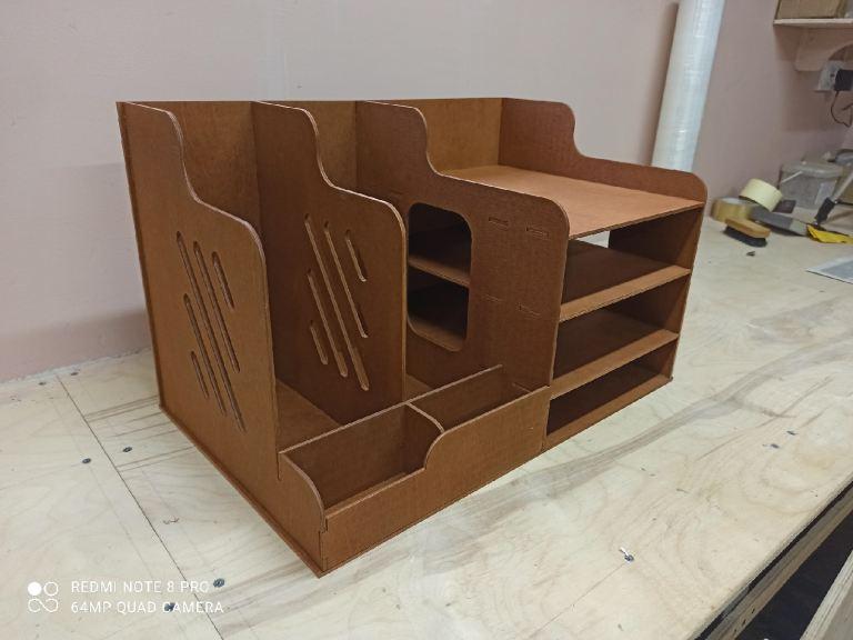 Organizer For Desktop For Laser Cut Free CDR Vectors Art