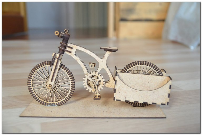 Wooden Organizer A Bike For Laser Cutting Free DXF File