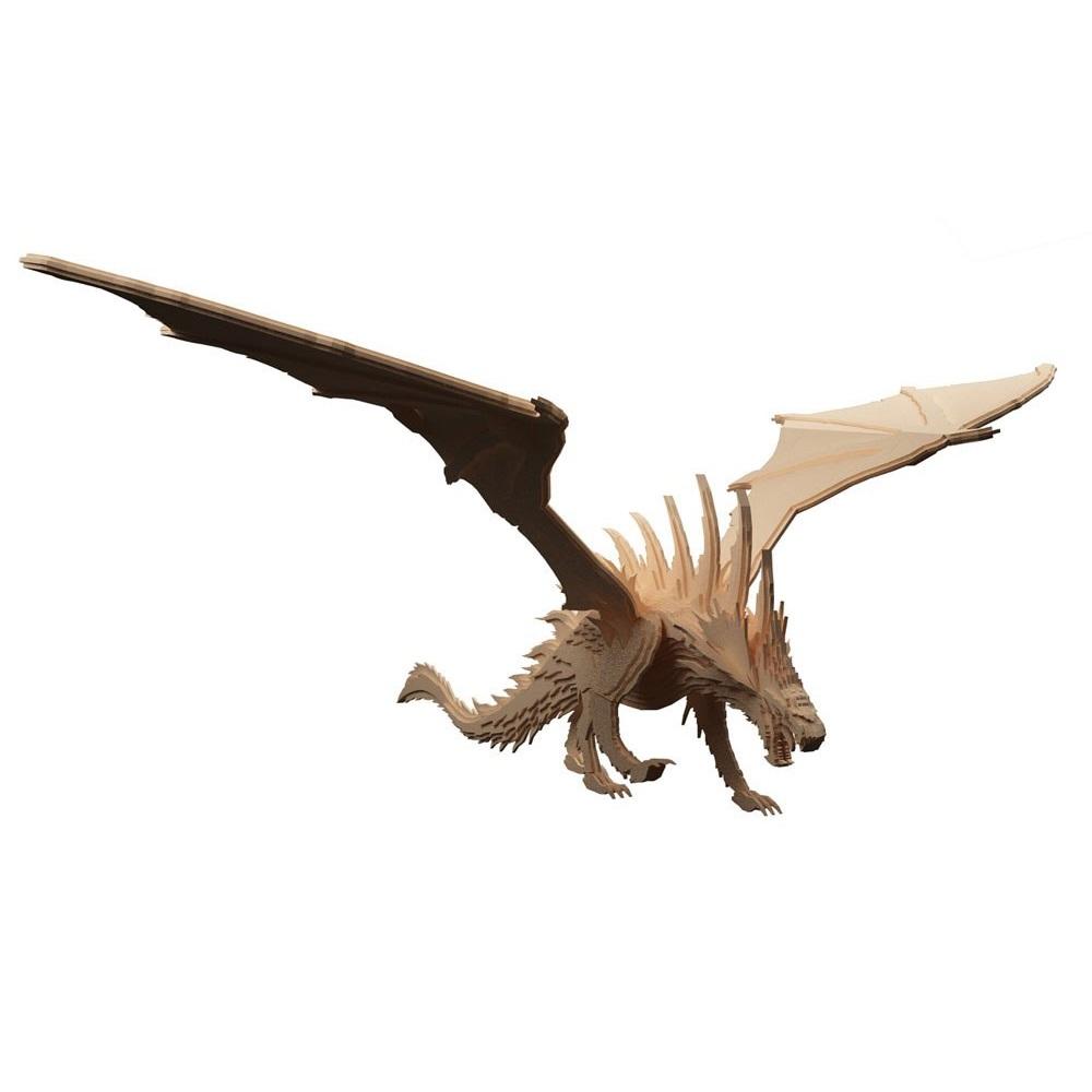 Laser Cut European Dragon Wooden Welsh Dragon Free DXF File