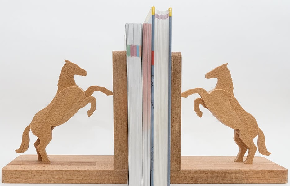 Laser Cut Horse Bookends Free DXF File