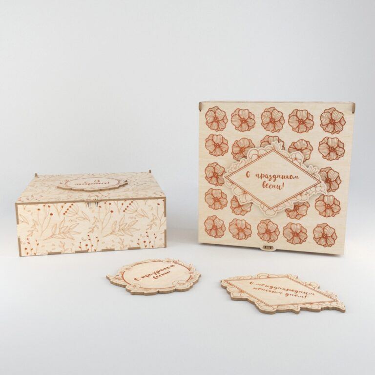 2 Variants Of A Box With A Lock For Laser Cut Free CDR Vectors Art