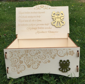 Beautiful Wooden Gift Box For Laser Cut Free CDR Vectors Art