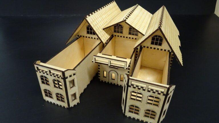 Casket Box House Layout For Laser Cut Free CDR Vectors Art