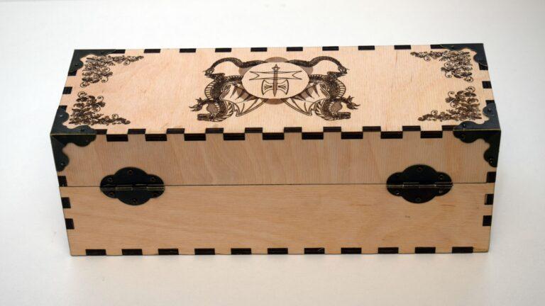 Decoration Box Dragon Image For Laser Cut Free CDR Vectors Art