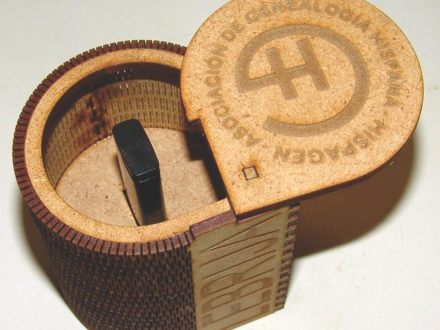 Caixa Pen Drive Box For Laser Cut Free DXF File