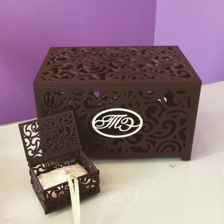Patterned Ring Box For Laser Cut Free CDR Vectors Art