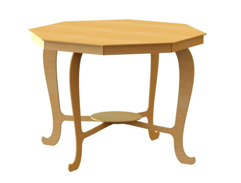 3d Dining Table For Laser Cut Free DXF File