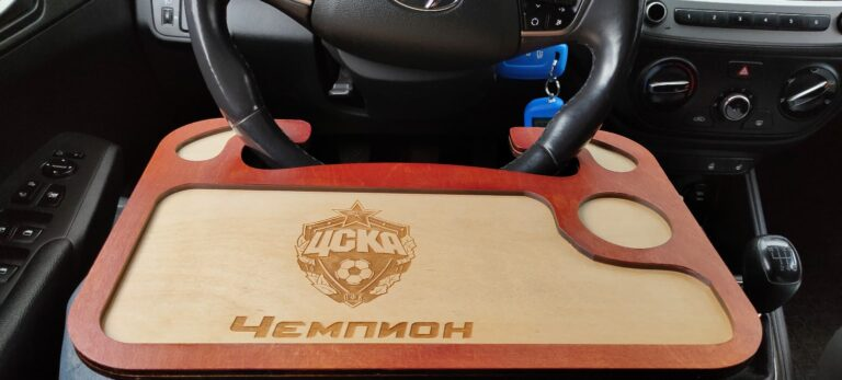 Car Steering Wheel Computer Desk Vehicle Table Car Kit Dining Table For Laser Cut Free CDR Vectors Art