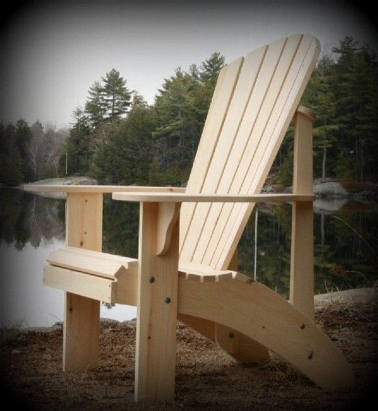 Chair Adirondack For Laser Cut Free CDR Vectors Art