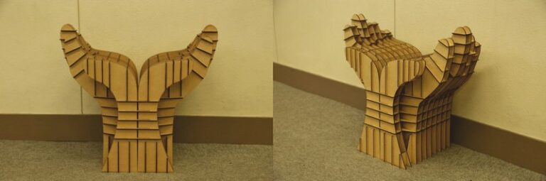 Chair Flower From Hands For Laser Cut Free CDR Vectors Art