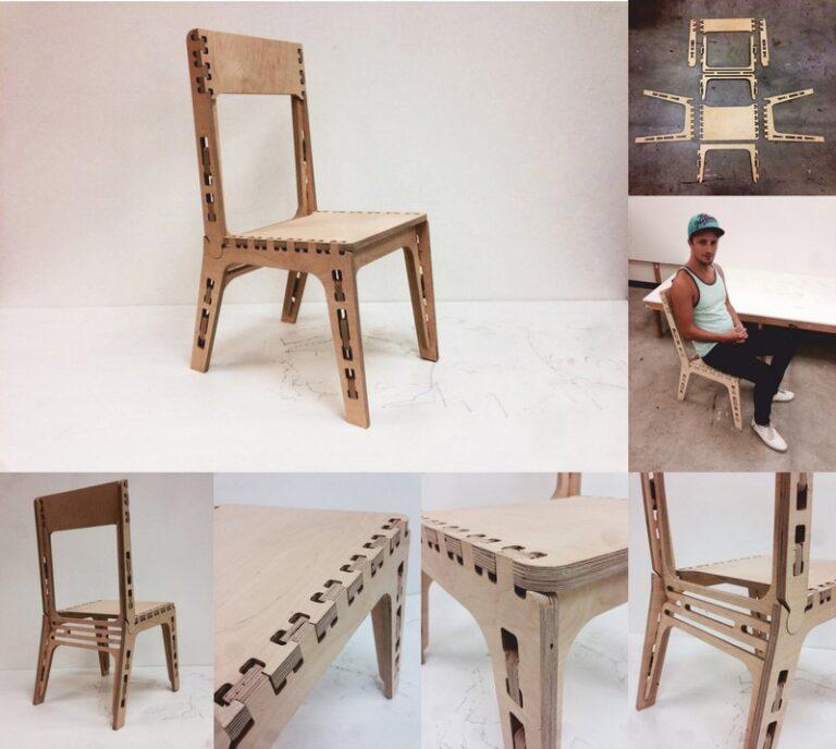 Chair Gustaf For Laser Cut Free CDR Vectors Art