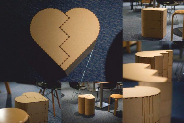Chair Heart For Laser Cut Free CDR Vectors Art