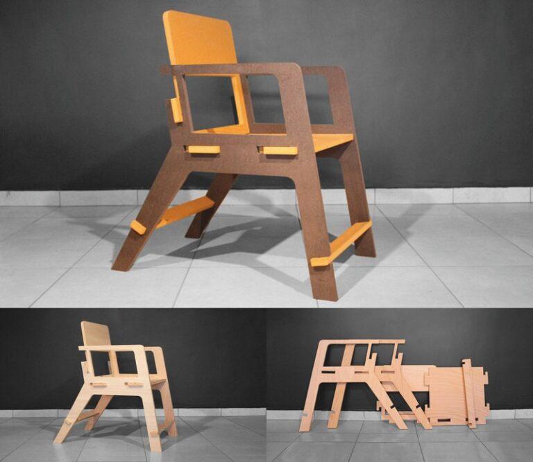 Chair Kuka For Laser Cut Free CDR Vectors Art