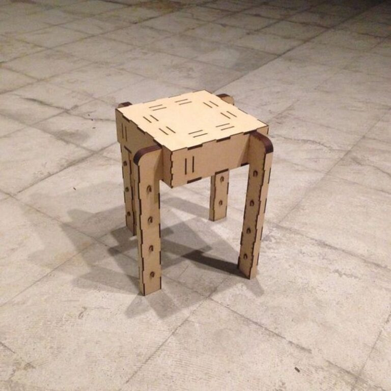 Chair Tenkaizu For Laser Cut Free CDR Vectors Art