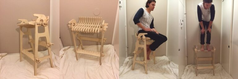 Chair The George For Laser Cut Free CDR Vectors Art