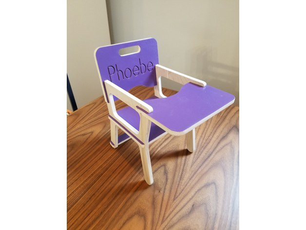 Doll High Chair For Laser Cut Free CDR Vectors Art