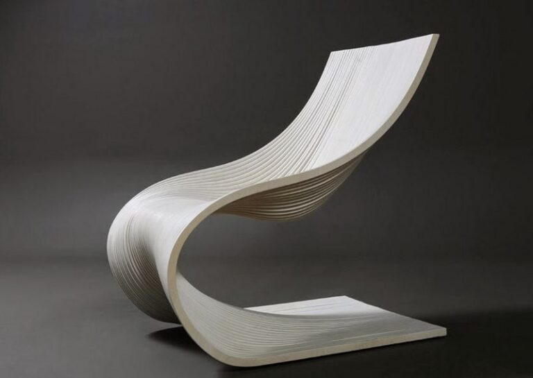 Wave Chair For Laser Cut Free CDR Vectors Art