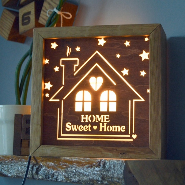 A Night Light From An Old Housekeeper For Laser Cut Free CDR Vectors Art