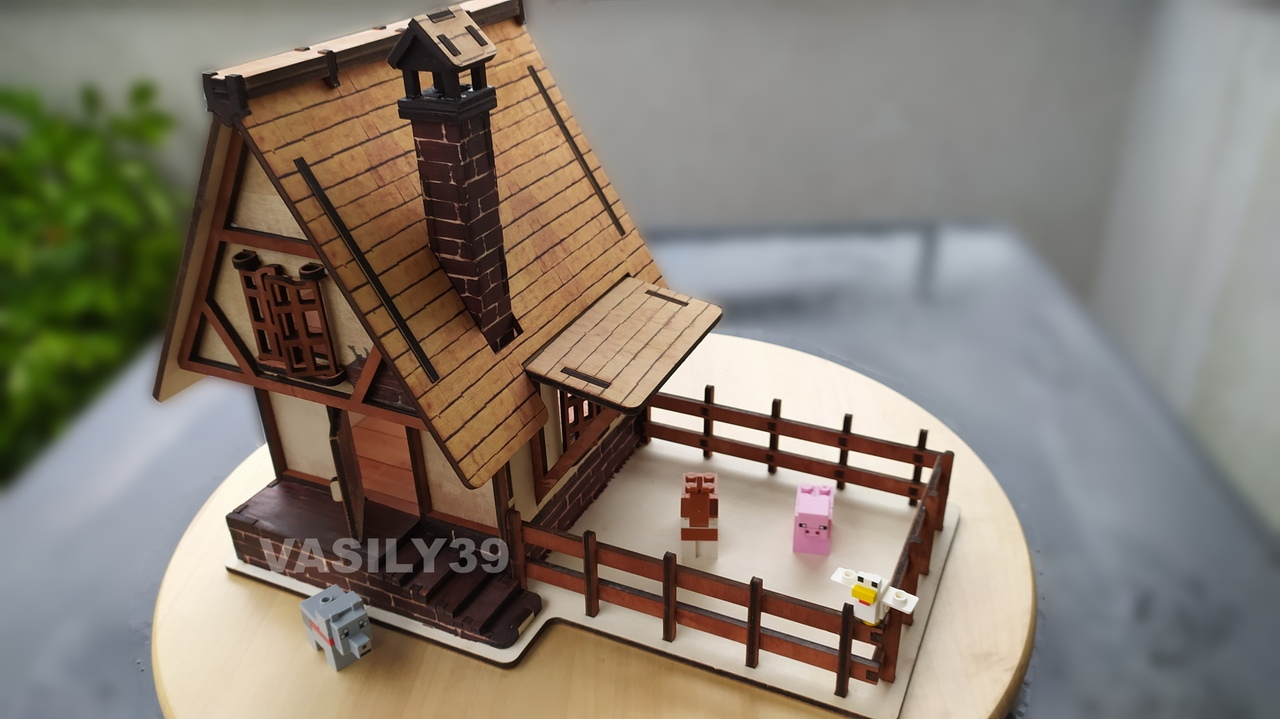 Model Of A Medieval House Made Of Plywood Drawings For Laser Cut Free CDR Vectors Art