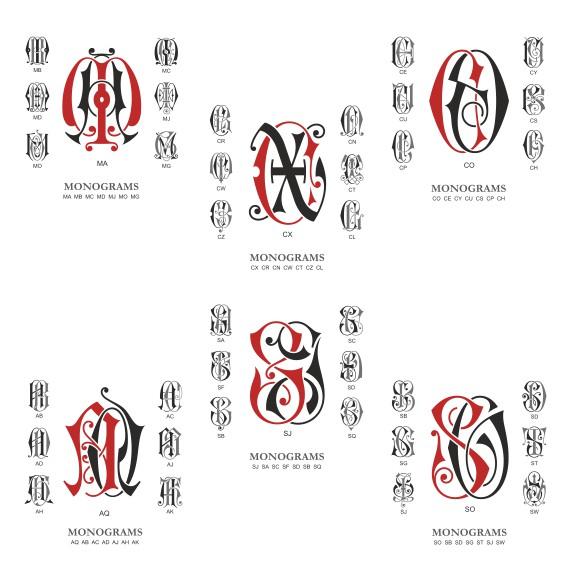 Monogram Vector Collection # 01 Download Free CDR Vectors Art