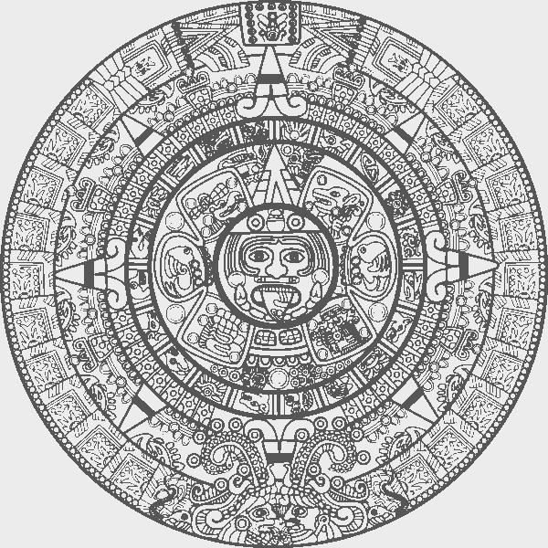 Calendar Mayan Free CDR Vectors Art