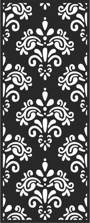 Decorative Floral Screen Free CDR Vectors Art