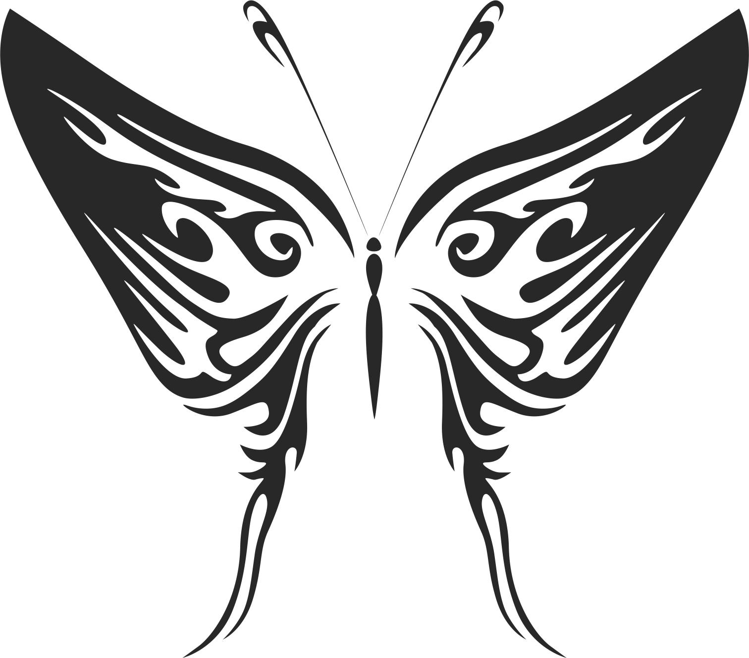 Butterfly Tribal Free CDR Vectors Art