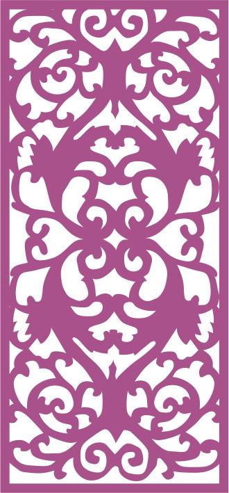 Decorative Floral Screen Pattern Free CDR Vectors Art