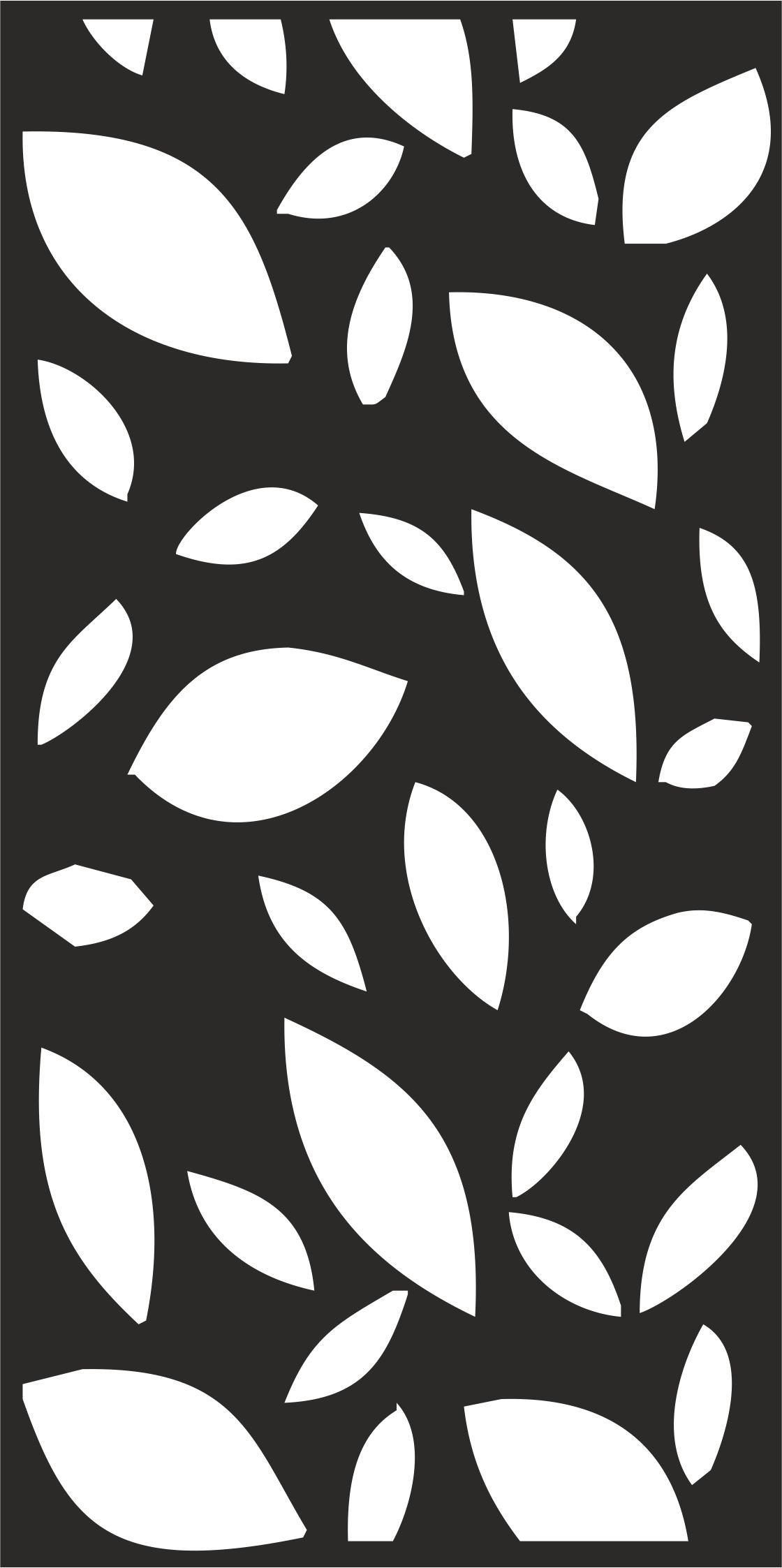 Floral Leaf Pattern Free CDR Vectors Art
