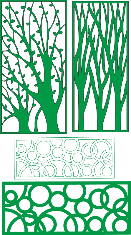 CNC Pattern Collection tree Free CDR Vectors Art